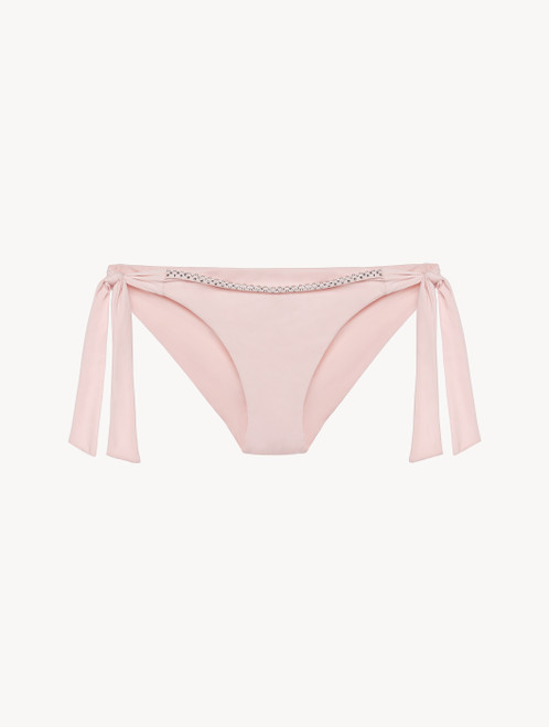 Ribbon Bikini Briefs in rose pink