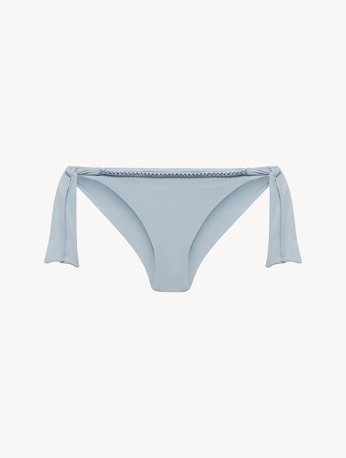 Ribbon Bikini Briefs in azure blue