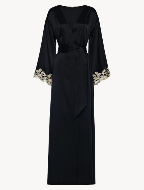 Black long robe with frastaglio