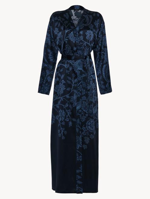 Robe in blue silk satin