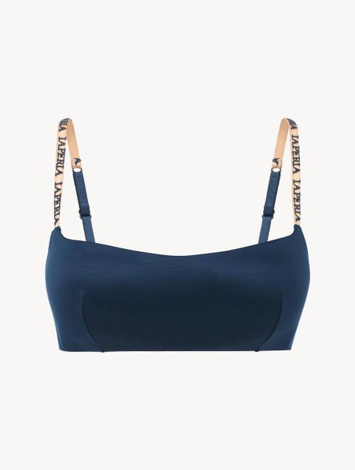 Bralette in blue rayon
