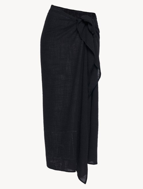 Black cotton sarong