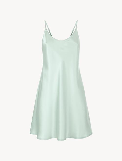Mint green silk short slip