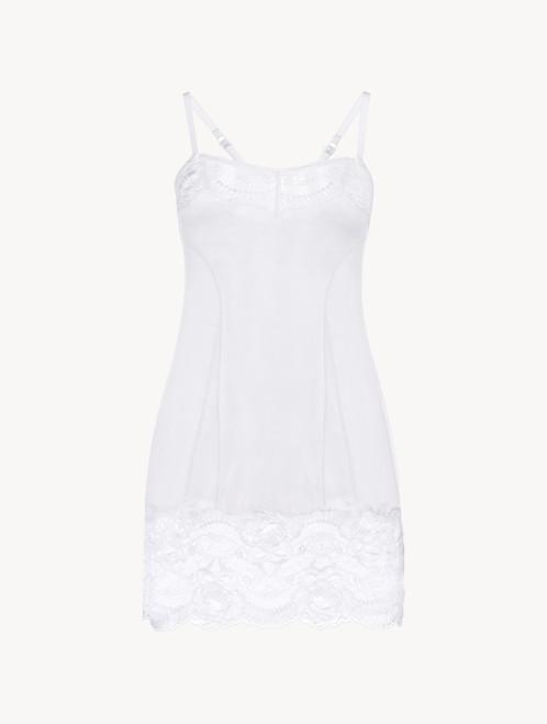 White lace slip