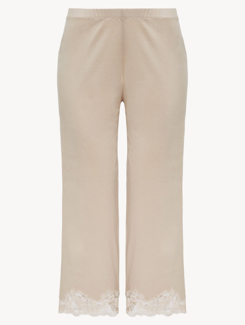 Soft beige cotton trousers