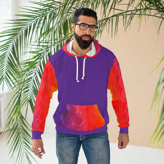 Unisex Pullover Hoodie Purple Pattern -- 15% Off  @ CHECKOUT