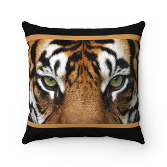 Faux Suede Tiger Eyes Pillow - Buy 2 Get 1  50% off @ Checkout