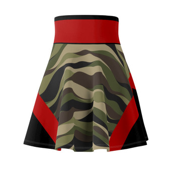 Camouflage Pattern  Red Trim  Skirt