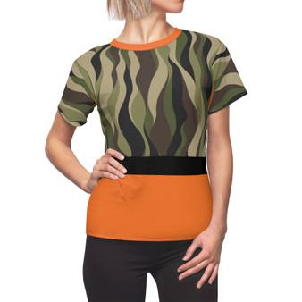 Camouflage Orange Pattern Shirt