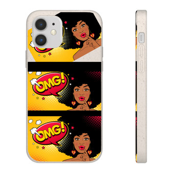 OMG Afro Puff Biodegradable Phone Case