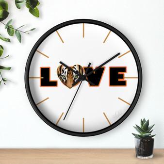 Love black wooden clock