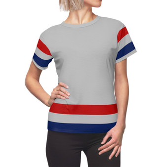 Gray, Red and Blue Women Shirt