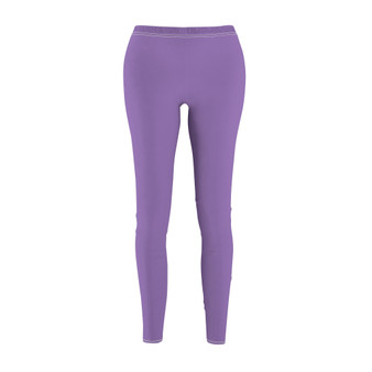 front of lavender leggings