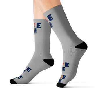Love Gray Crew Socks