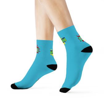 Bougie Cute Crew Turquoise Socks