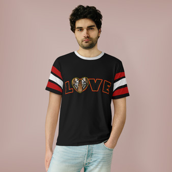 Unisex Love Red and White Sleeves T-Shirt