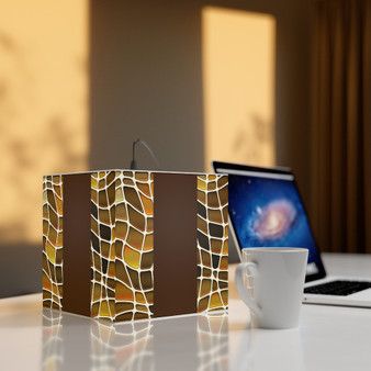 Brown Cube Personalized Lamp