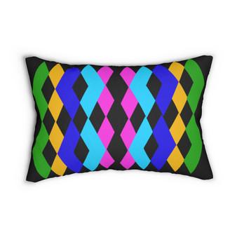 Colorful  Diamond Pattern Lumber Pillow