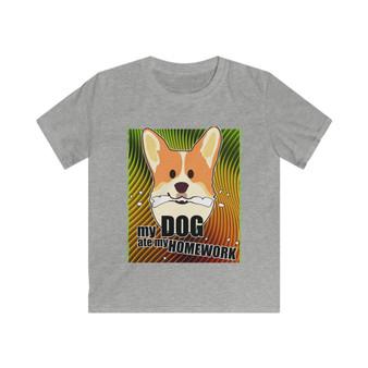 My Dog Ate My Homework Kids T Shirt