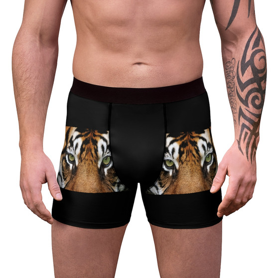 Tiger Pattern Men Boxer Briefs
