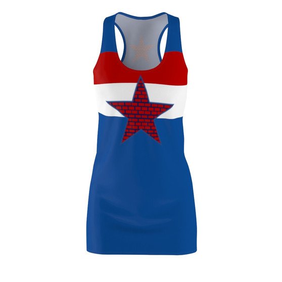 Red, White and Blue Racerback Dress