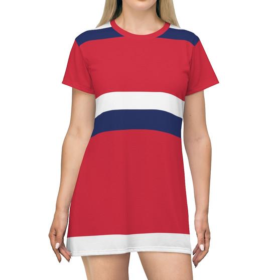 Red White Blue T-Shirt Dress