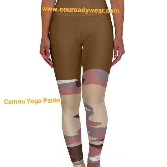 Brown Pattern High Waisted Yoga Leggings