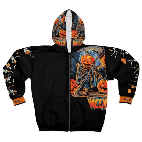 front of Halloween jacket