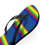 Rainbow Black Thong Flip Flops