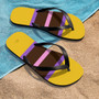 Mustard Yellow and Brown  Thong Flip Flop