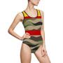 Camouflage Pattern One Piece Swimwear