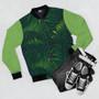 Jungle Green Unisex Bomber Jacket
