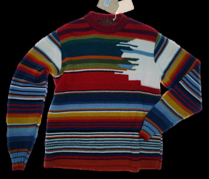 Maglia girocollo multicolor