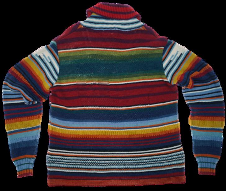 Maglia collo sciallato multicolor