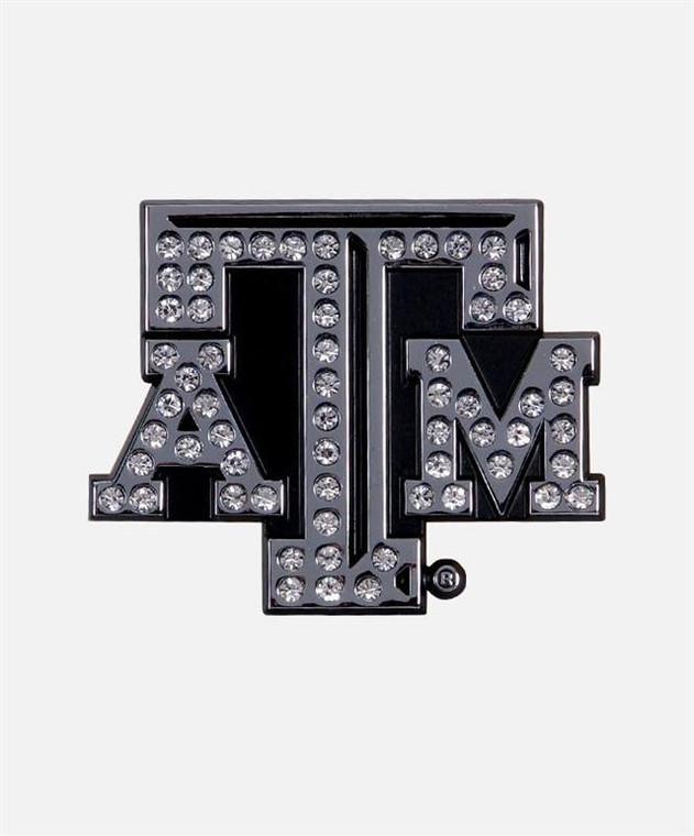 Sparkling crystals embedded in this beautiful A&M stack emblem.
