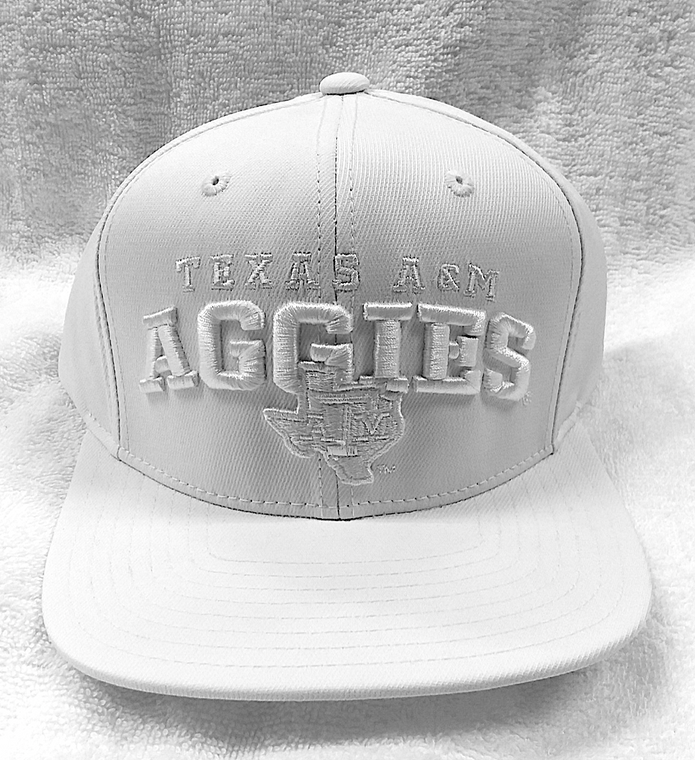 """White Out"" Texas A&M Adidas Flat Bill Hat"