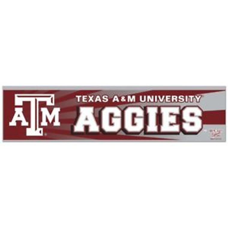 Stick it to them! This Aggie bumper sticker shows off your maroon & white pride. Stick it on any smooth surface!