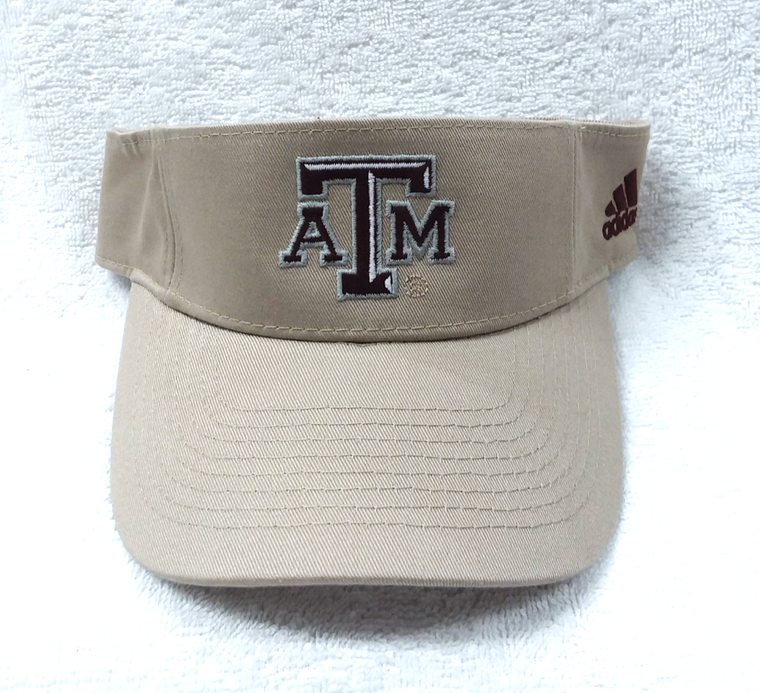 Tan Texas A&M Adidas Visor With Adjustable Velcro Back