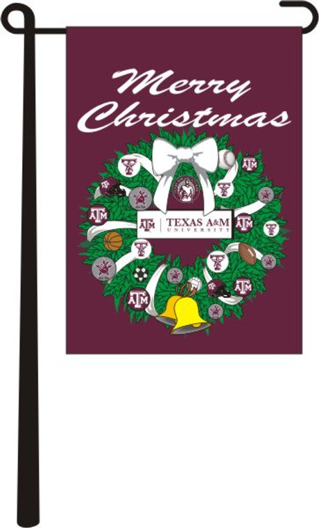 Merry Christmas Aggie Garden Flag (Stick Not Included)