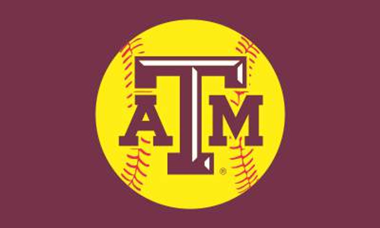 Texas A&M Softball Flag 3'X5' Polyester with grommets.