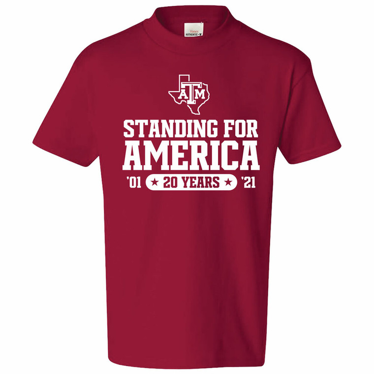 Texas A&M Standing For America 2021 T-Shirts