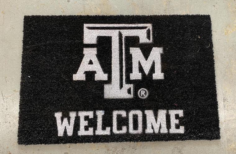 Welcome Door Mat - BLK Texas A&M
