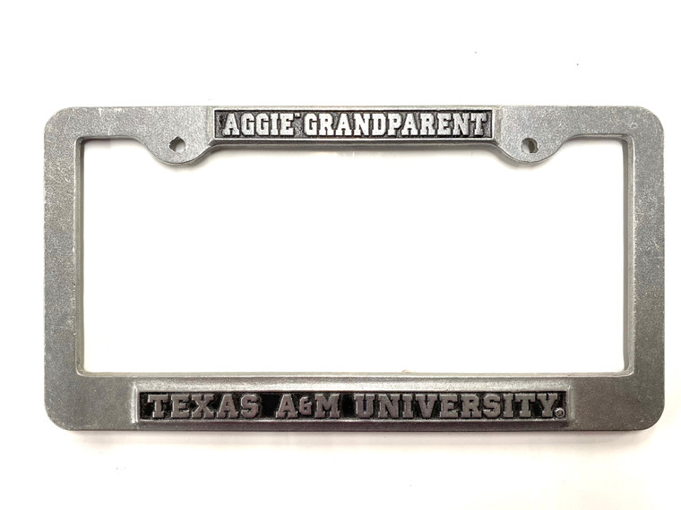 Aggie Grandparent license plate frame.