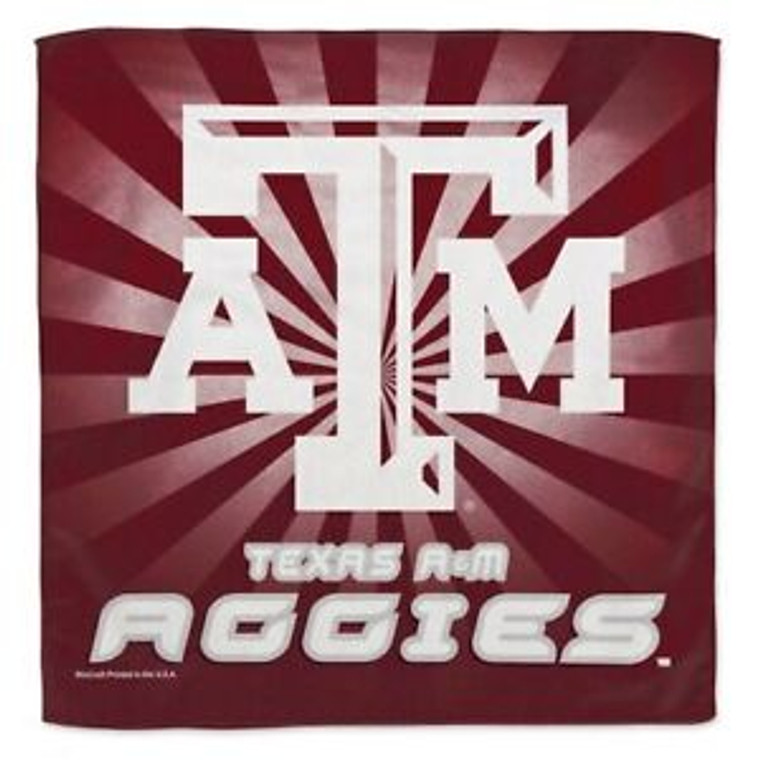 With this soft collector's towel, you can hang it up or use it to dry. Either way, it's maroon & it's Aggie...use it to show your spirit as you see fit!