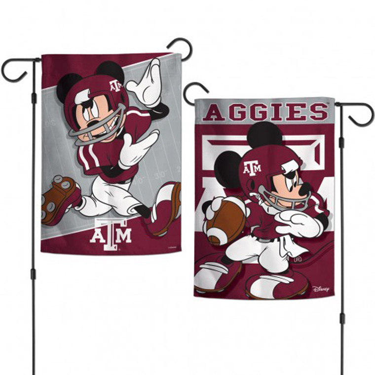 """Oh Boy!"" Put the magic of Walt Disney & The Spirit of Aggieland on display in your front yard with this Mickey Garden Flag! (Garden Stick sold separately)"