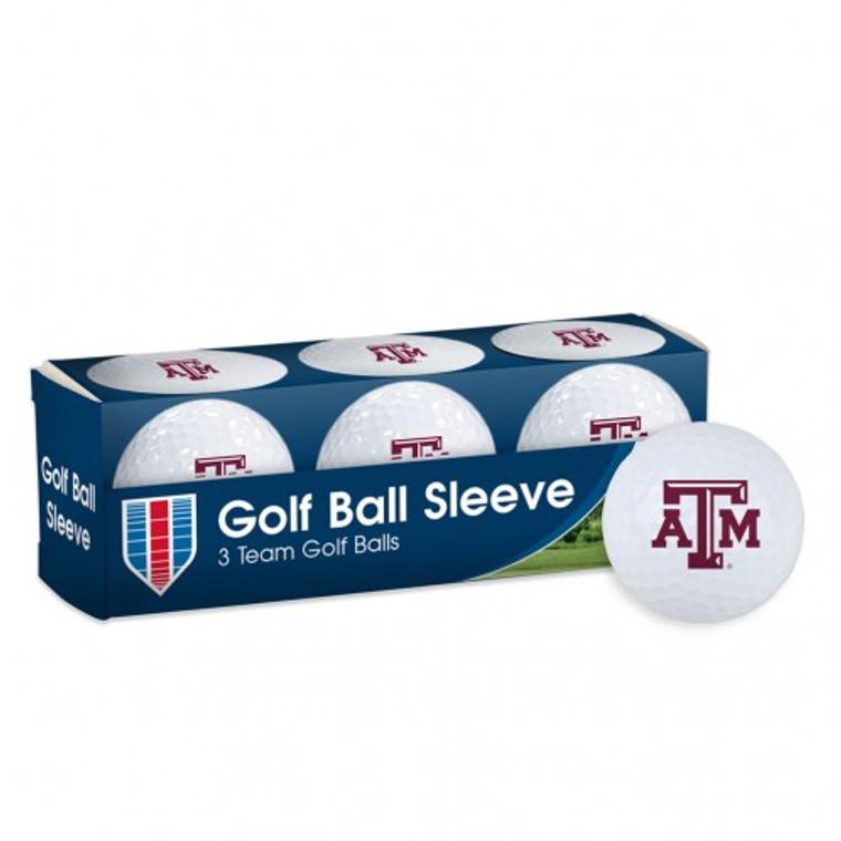 Texas A&M University Golf Balls - 3 pc sleeve
