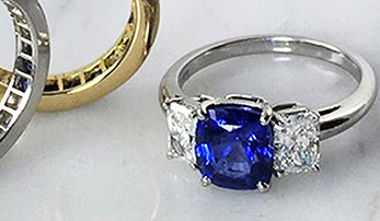 For Couples Who Dare to Be Different: Colored Stone Engagement Rings