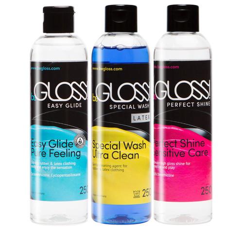 BeGloss Perfect Shine 250ml Easy Glide 250ml Special Wash 250ml