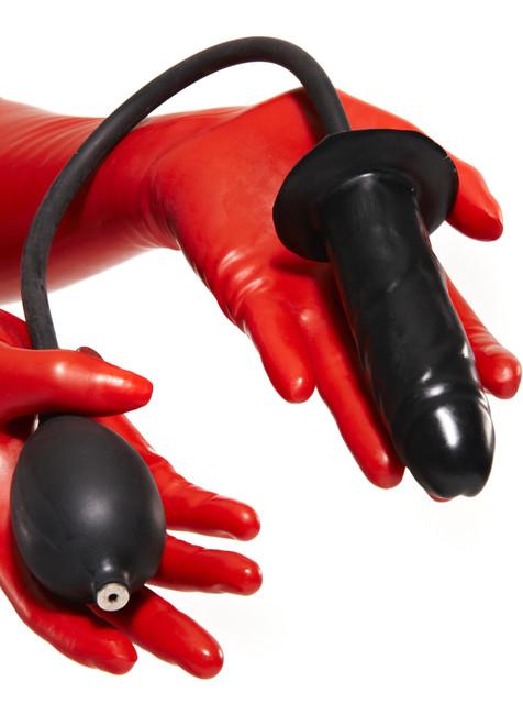 Inflatable Penis Plug Semi Hard Center