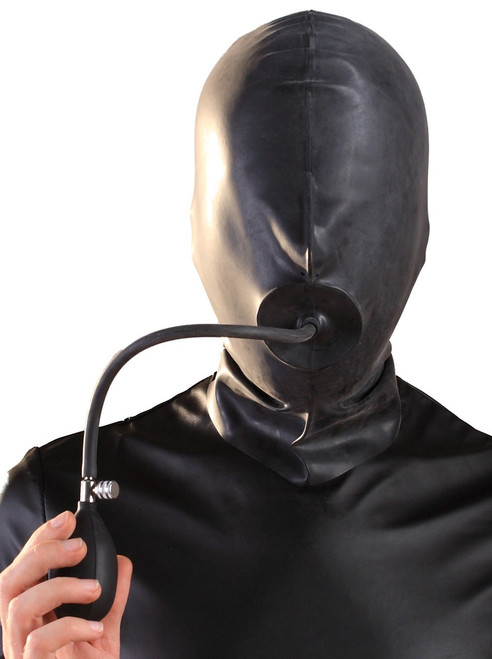 Hood with Pump Up Plug and Eye Nose Holes